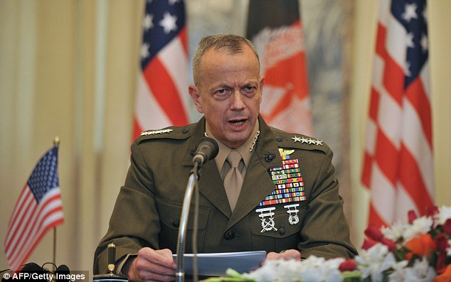 Anger: U.S. commander in Afghanistan, General John Allen said he strongly condemns the release of the pictures and said a full investigation is underway