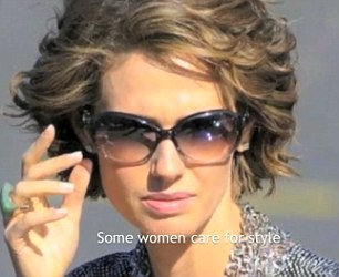 Graphic: The four-minute clip, posted on YouTube, alternates pictures of the stylish 36-year-old Asma Assad with horrific scenes of Syria's conflict and its victims