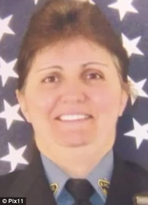 In limbo: Officer Regina Tasca in the Bogota Police Department, has been suspended the incident last April