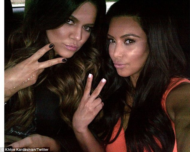 Posers! Khloe and Kim posted a picture of themselves as they arrived at the launch
