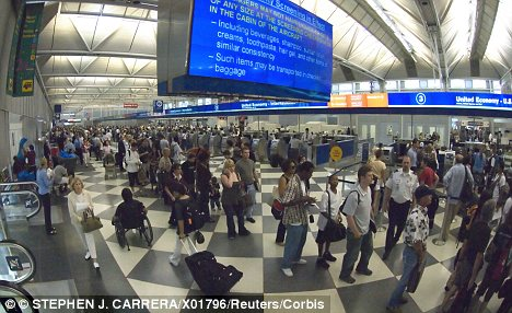 Nightmare: The TSA has been criticised for being over-zealous (file photo)
