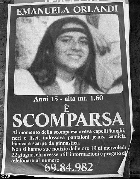 `Missing person: Pietro Orlandi, Emanuela's brother said it was time for the Vatican to come clean about what it knows of Emanuela's disappearance
