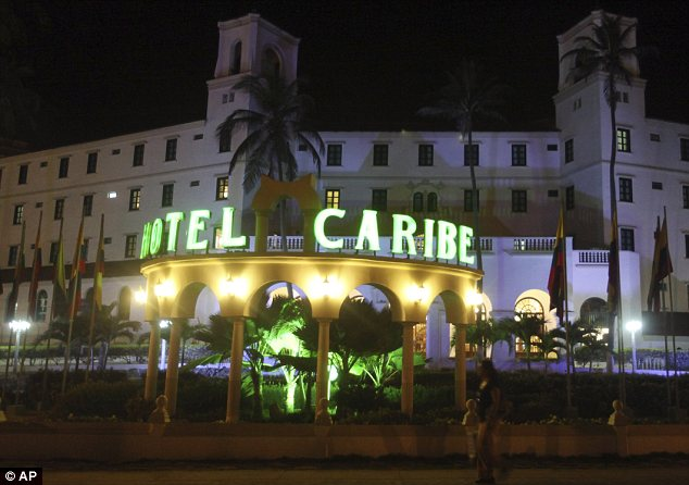 Hotel: The agent allegedly took the prostitute to his room in Cartagena's Hotel Caribe
