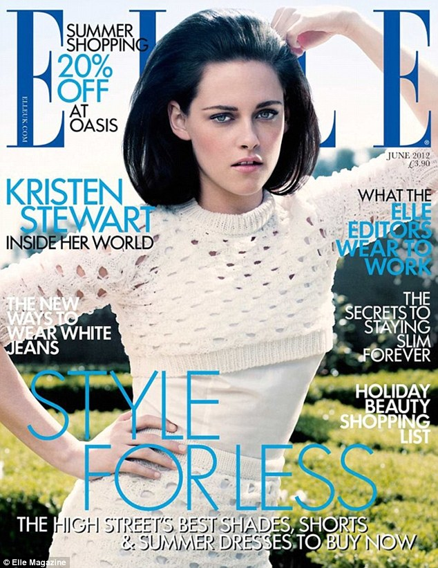 Absolutely gorgeous: Kristen Stewart covers the June issue of ELLE