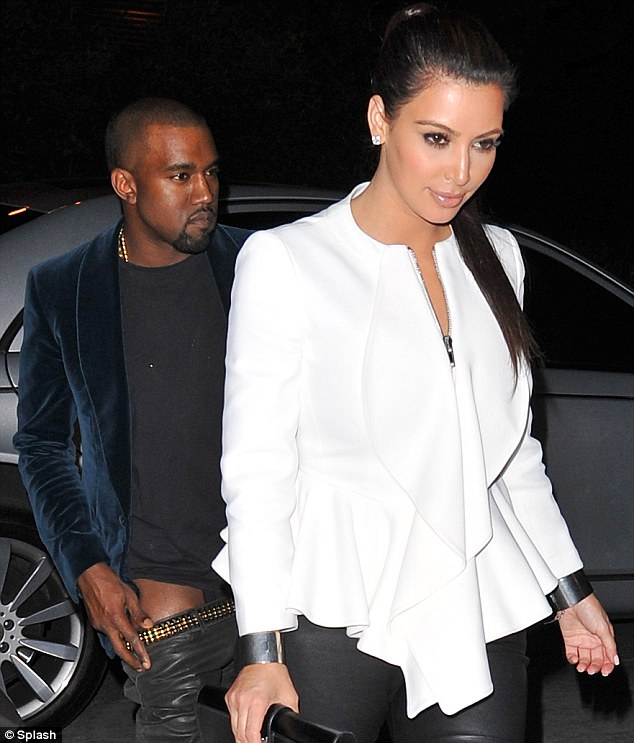 Can't get enough of each other: Kim enjoyed dinner with West on Friday before her big appearance in front of the President
