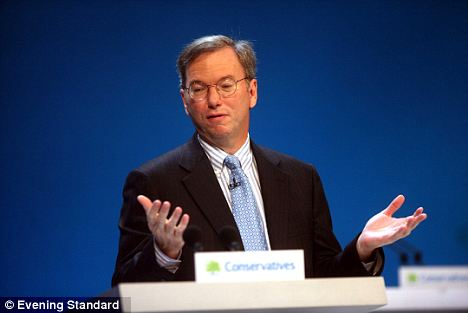 Searching: Eric Schmidt, CEO of Google, speaks at a conference. Google was fined $25,000 for obstructing the Federal Communications Commission's investigation
