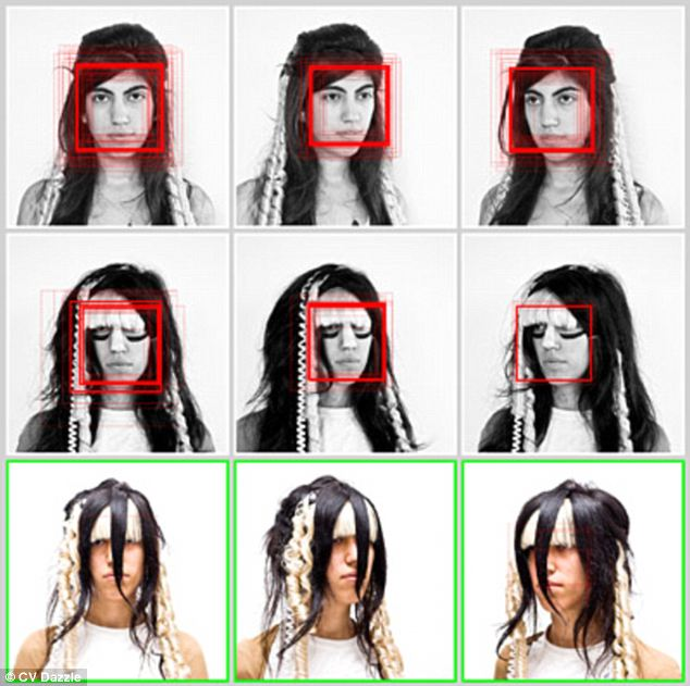 Trick: Covering the eyes and making the face less symmetrical are other possible techniques to fool automatic software