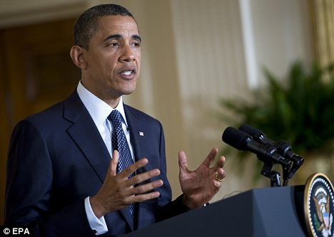 Taking credit: President Obama has used bin Laden's death as a campaign tool