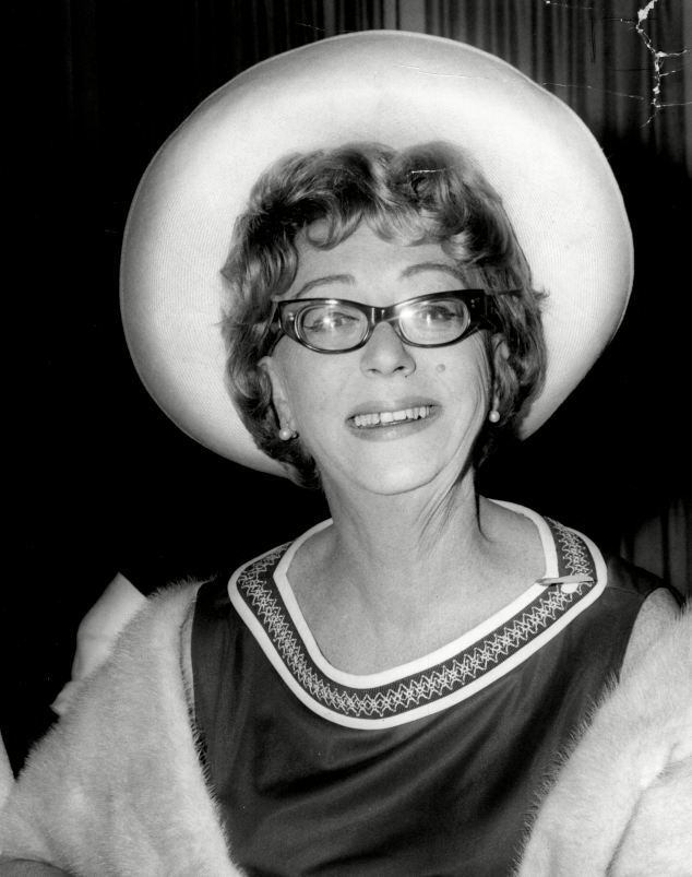 Glamour: This picture taken in 1966 shows Thora Hird enjoying a night at the fashionable Dorchester Hotel in London's Park Lane
