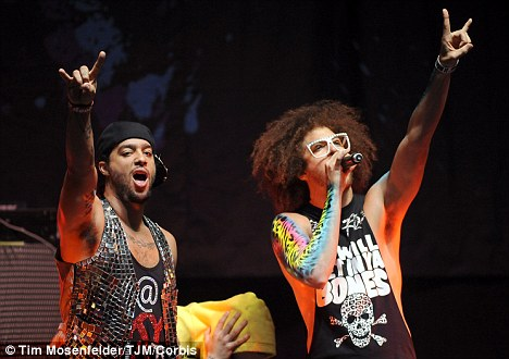 Lyrics: D'Avonte sang a line from a popular song by band LMFAO, pictured