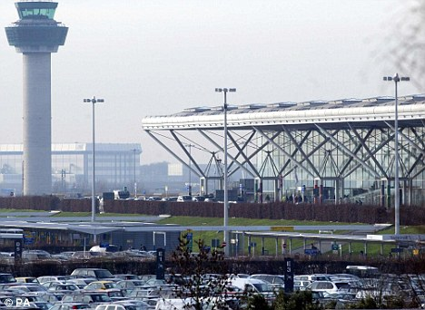 Not enough staff: Officials at Stansted (pictured) were accused of failing to sufficiently staff the airport for the Bank Holiday getaway