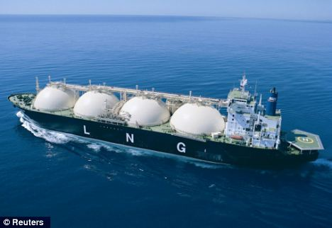 Experts say dozens of LNG container ships have been diverted to Japan after the tsunami