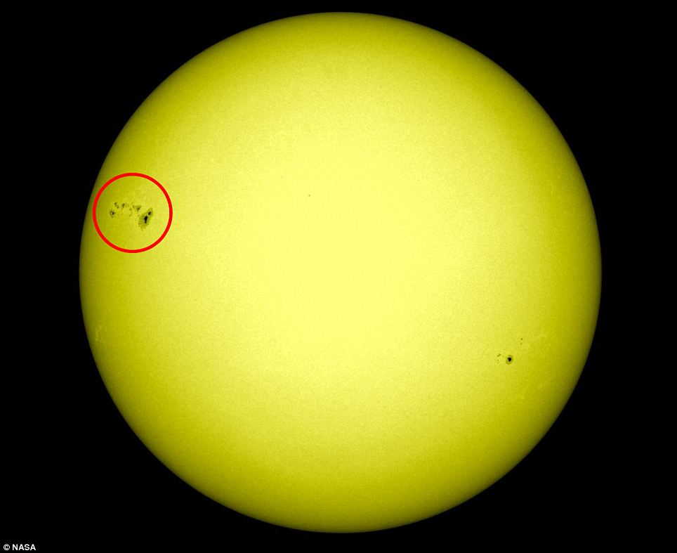 Sunspot AR 1476: It can be seen in the upper left of this picture - and could unleash gigantic solar flares