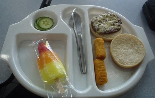 Grim grub: Martha's photos of her school dinner has turned her into an overnight internet sensation