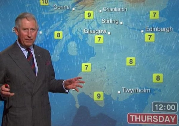 Prince Charles weather forecast: Prince of Wales and ...