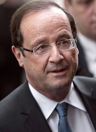 Francois Hollande (pictured) is set to meet Angela Merkel in Berlin tomorrow, soon after he is sworn in as President