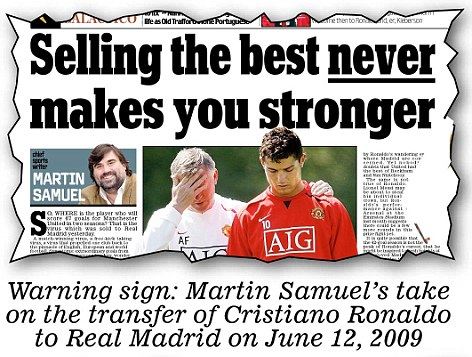 Warning sign: Samuel's take on the Ronaldo transfer