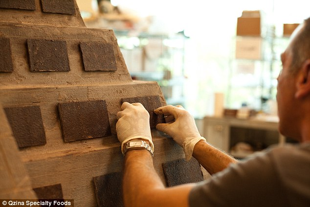 Precision: Each chocolate slab was perfectly placed to match the real 1100-year-old temple in Mexico