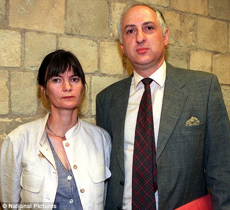 Headlines: Liberal Democrat Peer Alex Carlisle, right, had a five-month affair with married Alison Levitt before confessing his adultery to loyal wife Frances, left