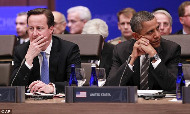 Unified front: Mr Cameron also claimed at the summit yesterday that plans for withdrawal from Afghanistan by the end of December 2014 are 'on track and on target'