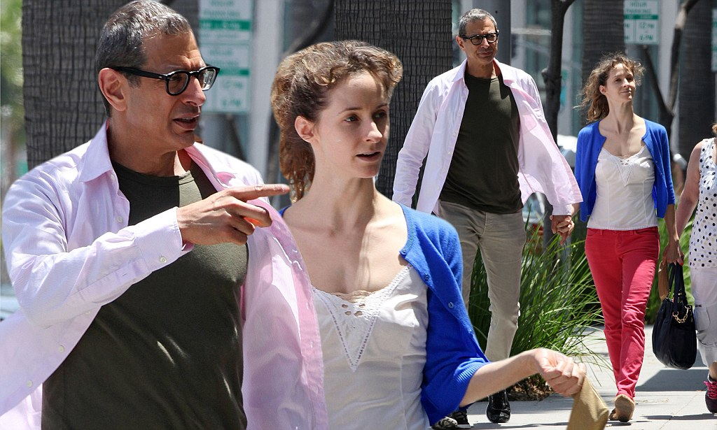 Jeff Goldblum And His Much Younger Girlfriend Emilie