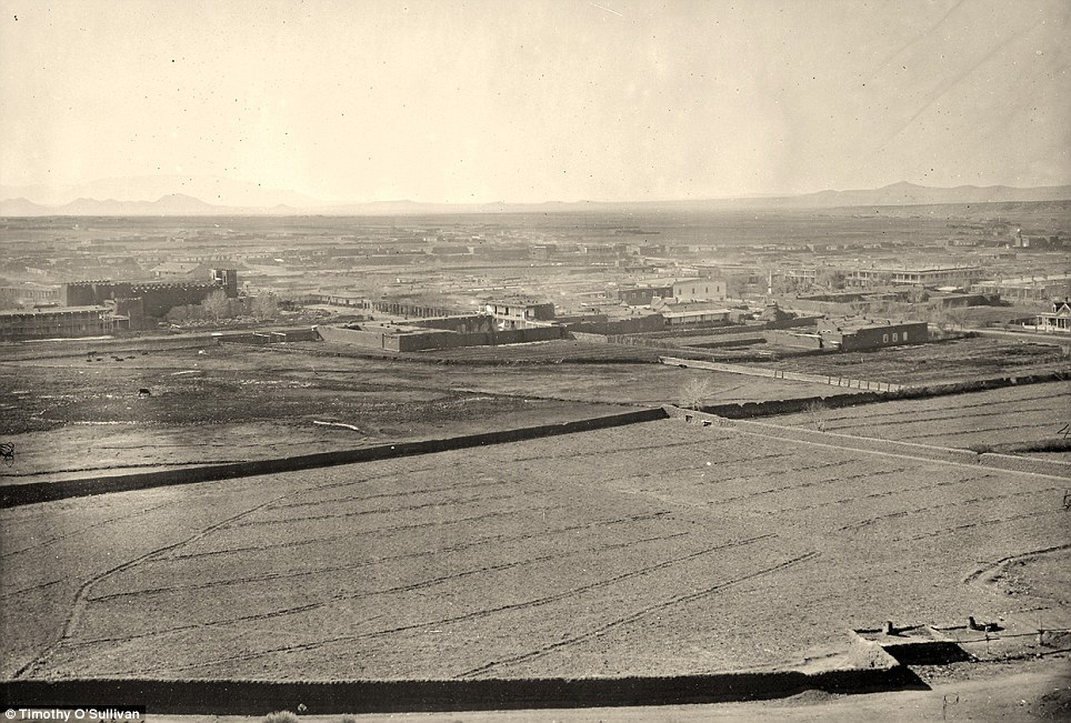 Very plain landscape: A distant view of Santa Fe, New Mexico in 1873
