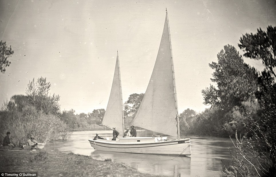 Sailing away: The Nettie, an expedition boat on the Truckee River, western Nevada, in 1867