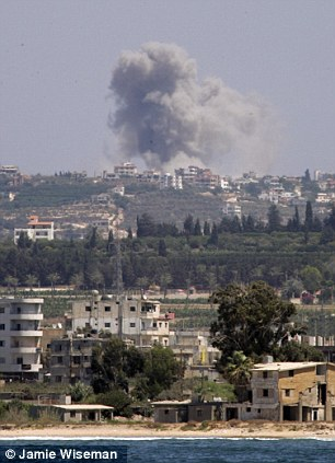 Fears: There are concerns that Lebanon is getting drawn into the bloody conflict in neighbouring Syria (file photo)