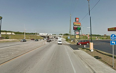 Highway 484 in Ocala, Florida where Ashley Holton, a 35-year-old Alabama woman was arrested for publicly masturbating