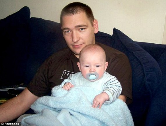 Jailed: Father Jamie Green was handed a nine-month jail term after a jury unanimously found him guilty of manslaughter