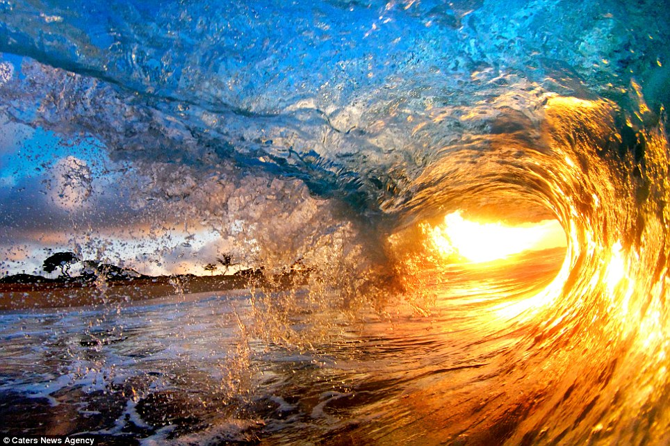 Breaking waves: These are the amazing photos taken by daredevil photographers Nick Selway, 28, and pal CJ Kale, 35