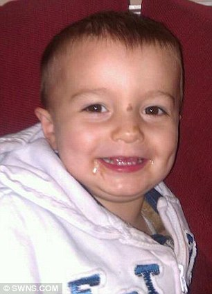 Photo of Kieren Guess aged 2 who was mauled by two dogs in Swanage Walk, Swindon