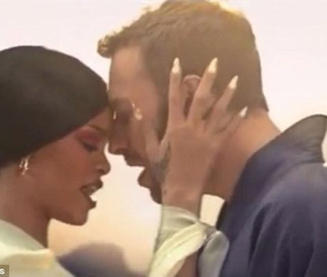 Intimate Rihanna And Coldplays Chris Martin Share A Tender Moment In The Music Video For