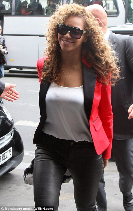 What's cooking? Beyonce headed out in Paris this evening for dinner with husband Jay-Z