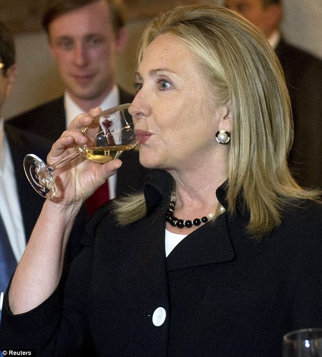 Image result for Hillary Clinton drinking wine
