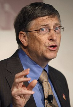 Big spender: Bill Gates has already given grants worth more then $1.1 million testing the bracelets