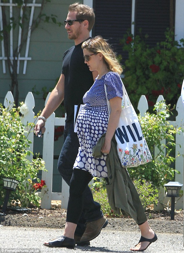 Honeymooners: Drew Barrymore and husband Will Koppelman looked relaxed and carefree on holiday in California