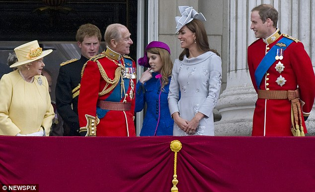The Duke of Edinburgh joined the other royals on the balcony in his first appearance since being hospitalised