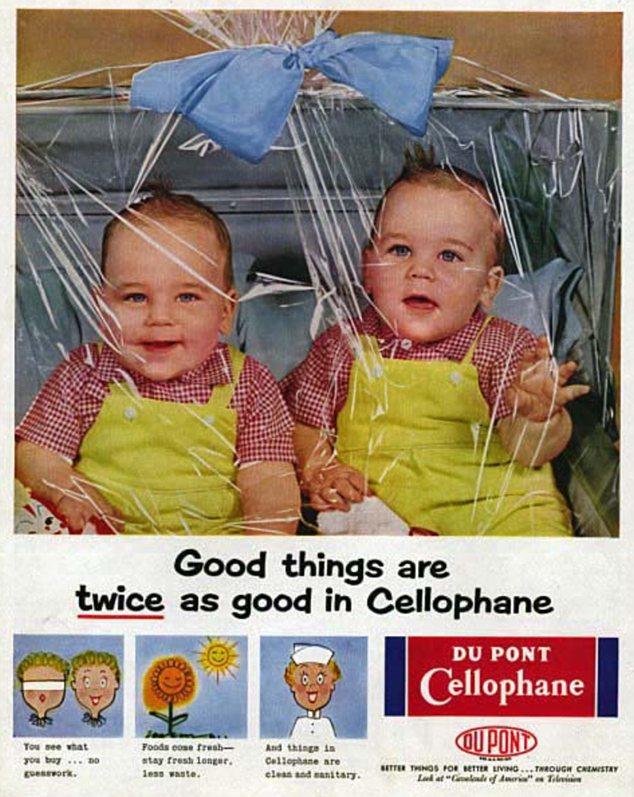 El doble de diversión: Pero este anuncio no es menos extraña que los otros temas de baby-carteles