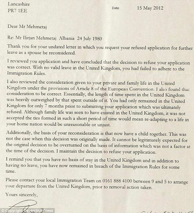 Immigration Letter Couple