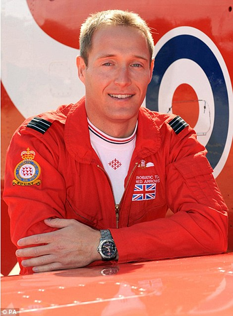 Flight Lieutenant Sean Cunningham, 35, who was killed after being ejected from his Hawk T1 while on the ground at RAF Scampton in Lincolnshire on November 8.