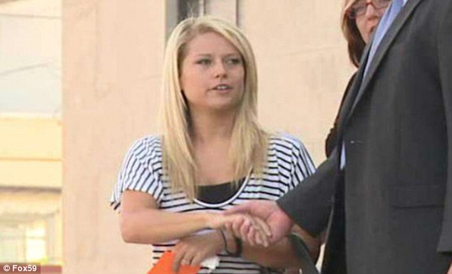 Leaving court: Crafton faces a felony charge of child seduction and will appear for her jury trial in September