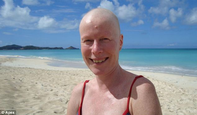 Recovering: A picture of Vicky in Antigua, 2008. Concerned about the side-effects of medical drug Tamoxifen Ms Sewart, 44, designed a vegan, diary free diet which included a range of superfoods from frozen berries to curry spices