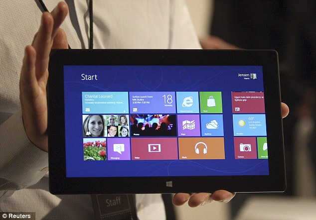 The Windows version of a tablet: A The new Surface was unveiled by Microsoft last week