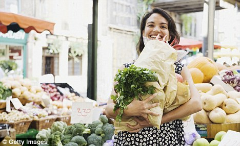 Stock up on veg: You can have more than five-a-day