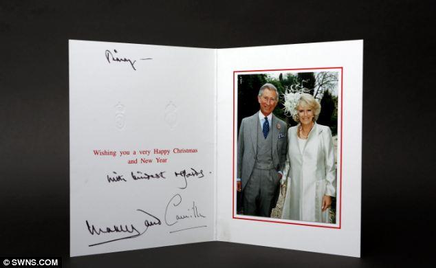 Seasons past: Christmas card from Prince Charles and Camilla Duchess of Cornwall