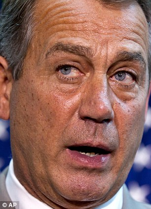 House Speaker John Boehner of Ohio: Following a political strategy session, Boehner defended the contempt of Congress vote against Attorney General Eric Holder