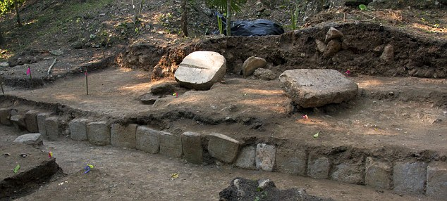The carved blocks were found at the La Corona dig site in Guatemala