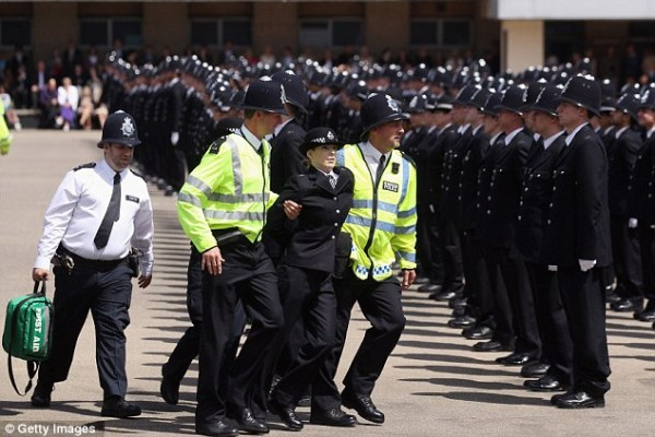Rookie police officers drop like flies as they stand to ...