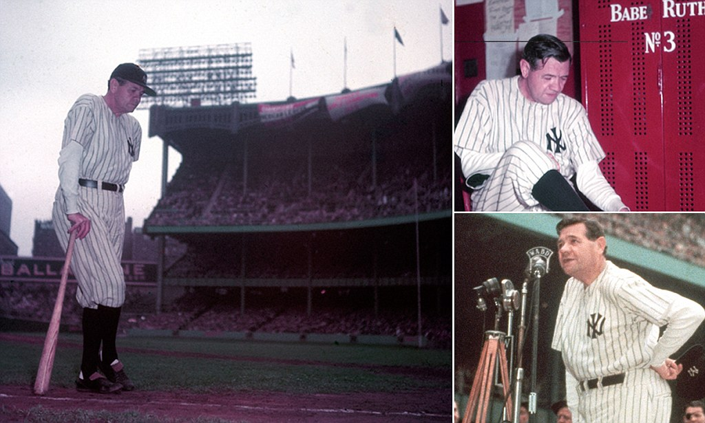 Extremely Rare Colour Pictures Of Babe Ruth Show The Bronx